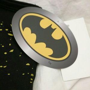 8c8b9caf7ac8cc Batman Shirts - Batman Mens L Muscle Tee Tank Top Retro Paint Look